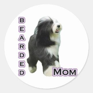 Bearded Collie Mom 4  - Sticker