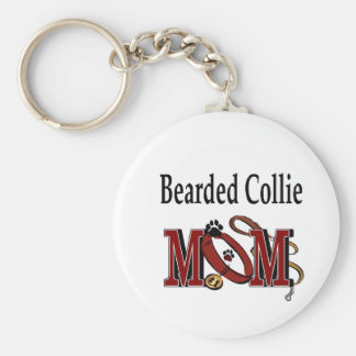 Bearded Collie Mom Gifts Keychain