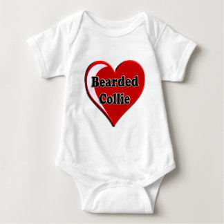 Bearded Collie on Heart for dog lovers Infant Creeper