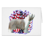 Bearded Collie Patriot Greeting Card