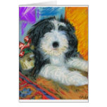 Bearded Collie Puppy Greeting Card