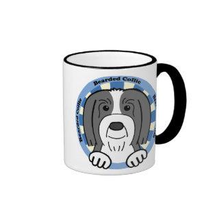Bearded Collie Ringer Coffee Mug