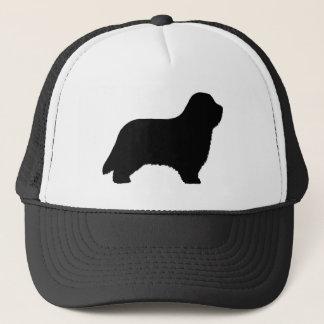 Bearded Collie Silhouette Trucker Hat