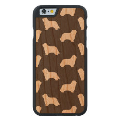 Carved ® iPhone 6 Bumper Wood Case with Collie Phone Cases design