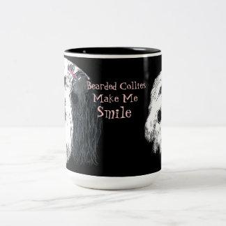 Bearded Collies Make Me Smile Mug
