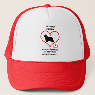 Bearded Collies Must Be Loved Trucker Hat