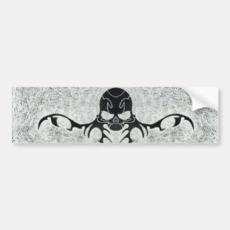 bearded dark skull bumper sticker