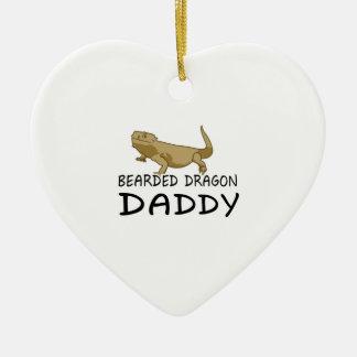 Bearded Dragon Daddy Ceramic Ornament