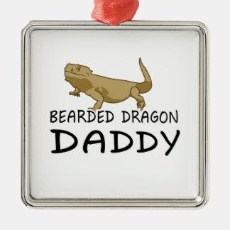 Bearded Dragon Daddy Metal Ornament