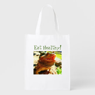"Bearded Dragon ""Eat Healthy"" Reusable Bag"