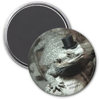 Bearded Dragon in a Top Hat Magnet