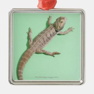 Bearded dragon metal ornament