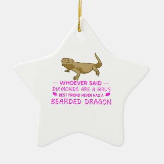 Bearded Dragon Mommy Ceramic Ornament