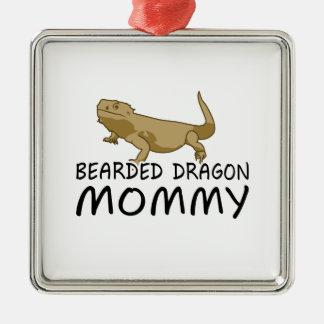 Bearded Dragon Mommy Metal Ornament