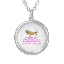 Bearded Dragon Mommy Silver Plated Necklace