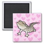 Bearded Dragon / Rankin Dragon Love 2 Inch Square Magnet