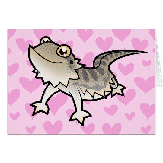 Bearded Dragon / Rankin Dragon Love Card