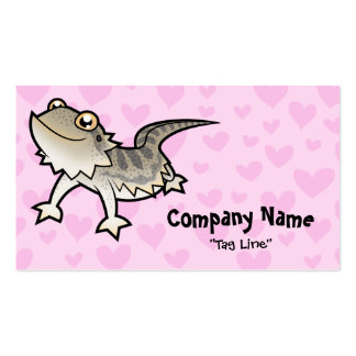 Bearded Dragon / Rankin Dragon Love Double-Sided Standard Business Cards (Pack Of 100)