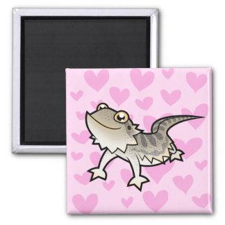 Bearded Dragon / Rankin Dragon Love Fridge Magnets