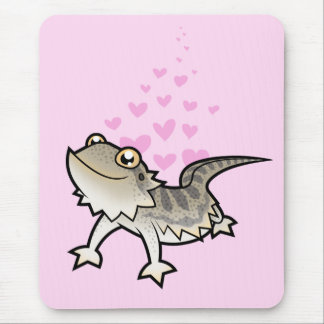 Bearded Dragon / Rankin Dragon Love Mouse Pads