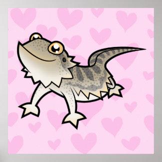 Bearded Dragon / Rankin Dragon Love Poster