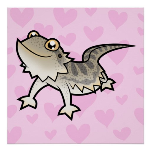 Bearded Dragon / Rankin Dragon Love Poster