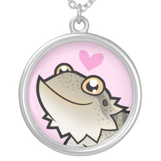 Bearded Dragon / Rankin Dragon Love Silver Plated Necklace