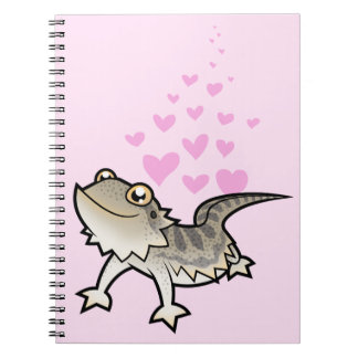Bearded Dragon / Rankin Dragon Love Spiral Notebook