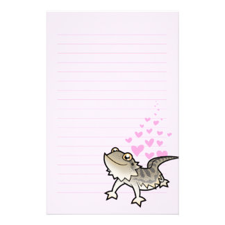 Bearded Dragon / Rankin Dragon Love Stationery