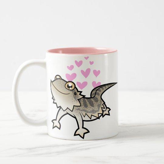 Bearded Dragon / Rankin Dragon Love Two-Tone Coffee Mug