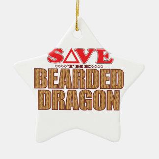 Bearded Dragon Save Ceramic Ornament