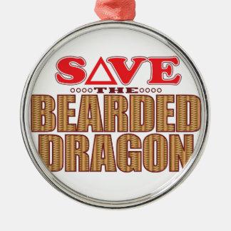 Bearded Dragon Save Metal Ornament