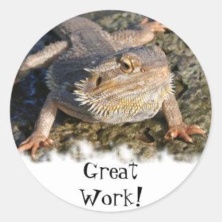 Bearded Dragon Series Classic Round Sticker