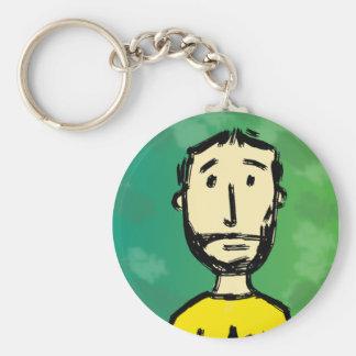 Bearded face keychain