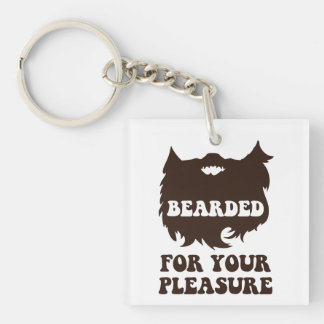 Bearded For Your Pleasure Double-Sided Square Acrylic Keychain