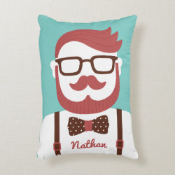 Iconic Cowboy Moustache Brushed Polyester Accent Pillow