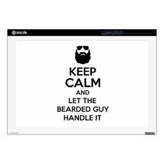 """Bearded Guy Skin For 17"""" Laptop"""