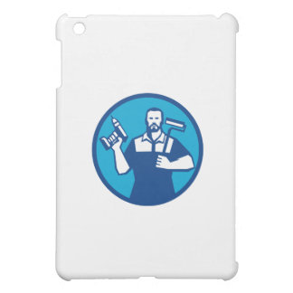 Bearded Handyman Cordless Drill Paintroller Circle Cover For The iPad Mini