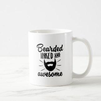 bearded inked and awesome coffee mug