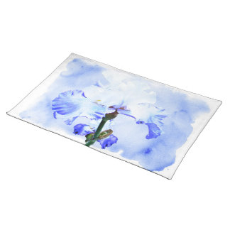 Bearded Iris - Blue And White Placemat
