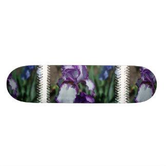 Bearded Iris Flower Skateboard