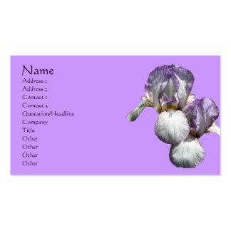 Bearded Iris Flowers Business Card