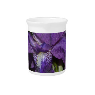 Bearded Iris in Purples Pitcher