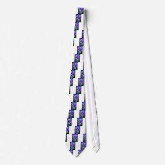 Bearded iris neck tie