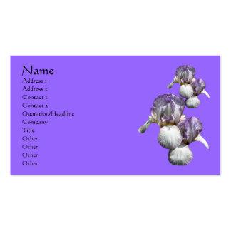 Bearded Irises Flower Nature Business Card