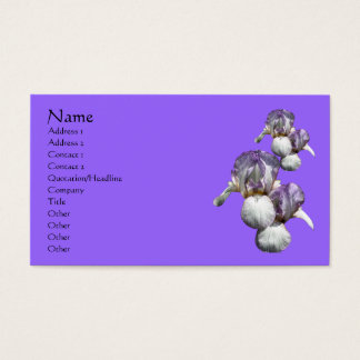 Bearded Irises Flower Nature Business Card