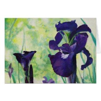 Bearded Irises Greeting Card