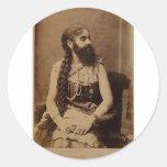 Bearded Lady Classic Round Sticker