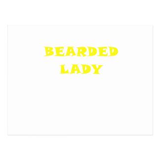 Bearded Lady Postcard