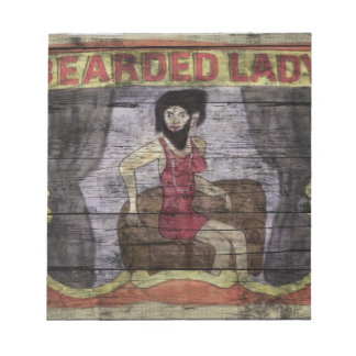 Bearded Lady Vintage Canival Banner Notepad